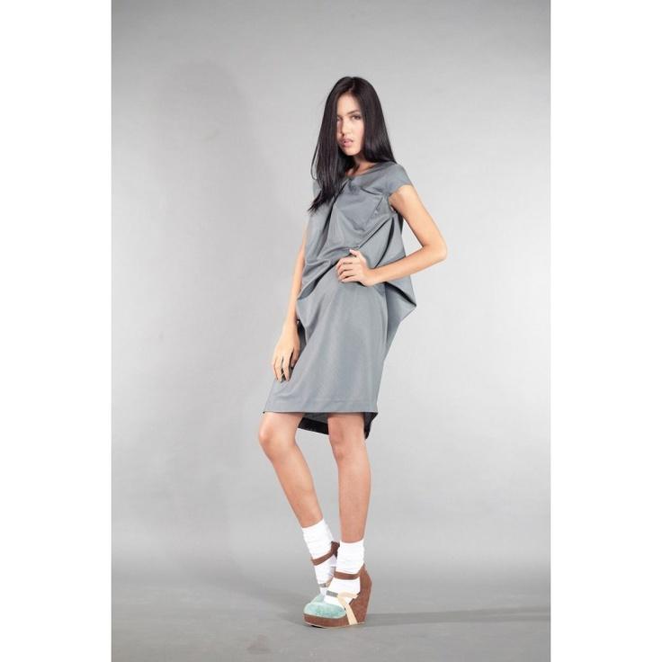 ASSYMETRIC MIDDY DRESS