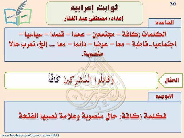 ثوابت إعرابية لا غنى عنها لأي طالب علم صور وتحميل Pdf Learn Arabic Language Learning Arabic Language