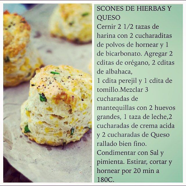"""Scones de Hierbas y queso"" Photo taken by @virginiademariaoficial on Instagram, pinned via the InstaPin iOS App! http://www.instapinapp.com (08/25/2015)"