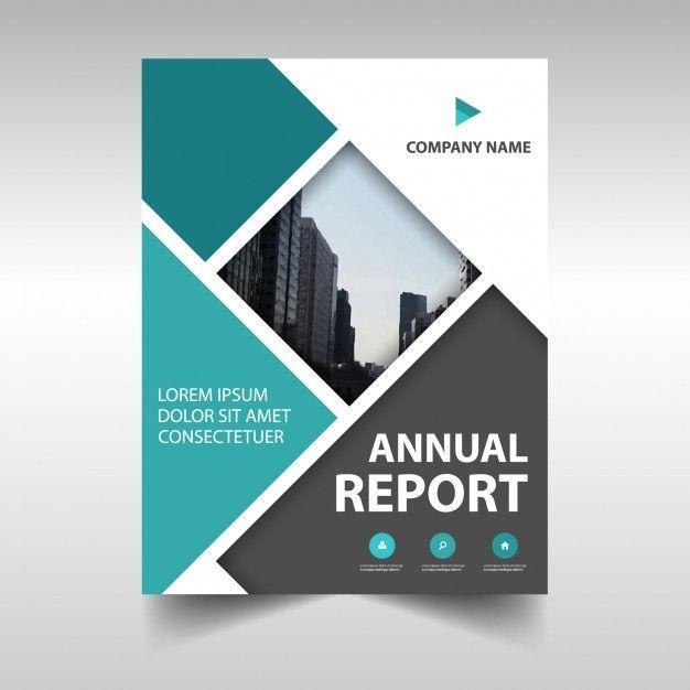 Blaue Kreative Jahresbericht Cover Vorlage Kostenlose Vektor Business Stuffs Broschure Umschlagdesign Broschurendesign
