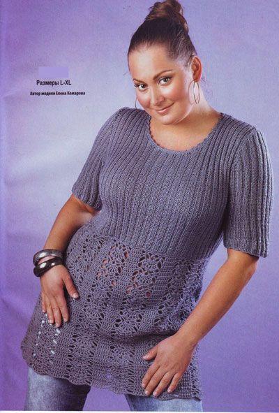 Вязаная мода для женщин королевских размеров (больше 30 моделей вязания) - Мир петель