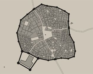 Medieval city map generator