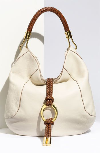 Michael Kors 'Skorpios' Calfskin Leather Hobo