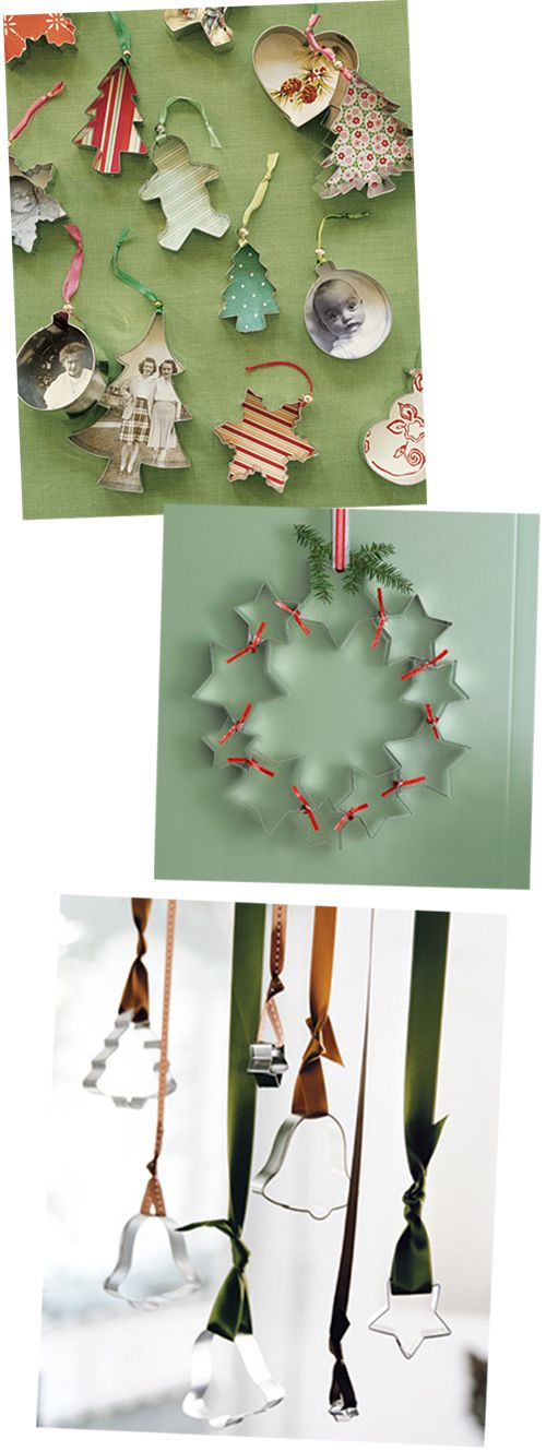 Cookie cutters as Christmas ornaments