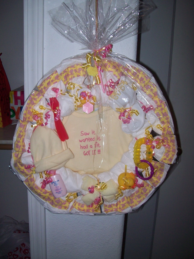 Girl diaper wreath