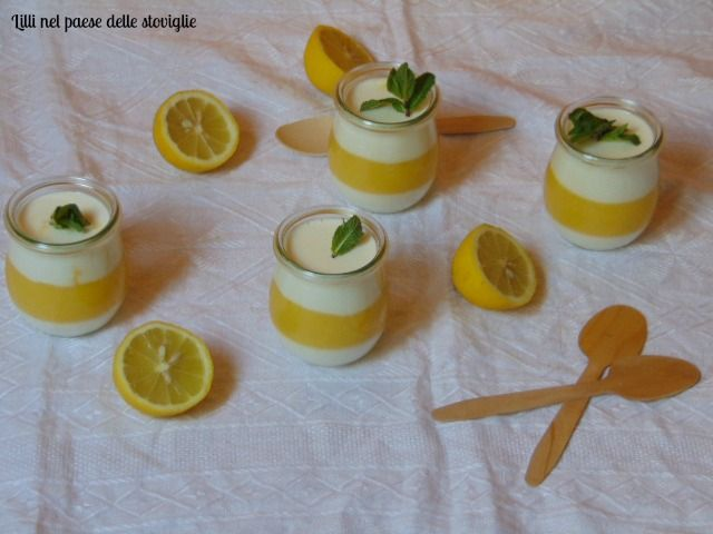 Panna cotta al lemon curd
