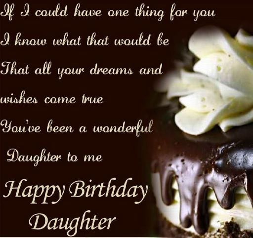 Birthday Quotes For Daughters From Mothers