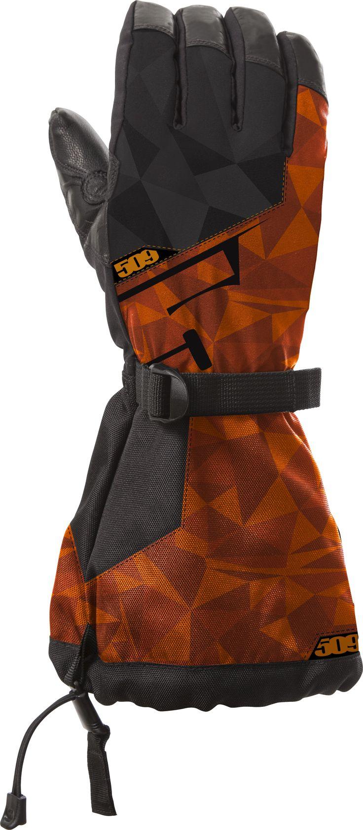 509 Backcountry Snowmobile Gloves Orange