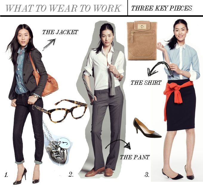 What to wear to work - key pieces for your work outfit # ...
