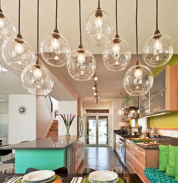 Mooie verlichting voor in een ruime keuken.
