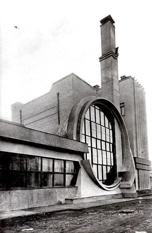 Russia, Moscow, 1936, Gosplan Garage Designed by Melnikov