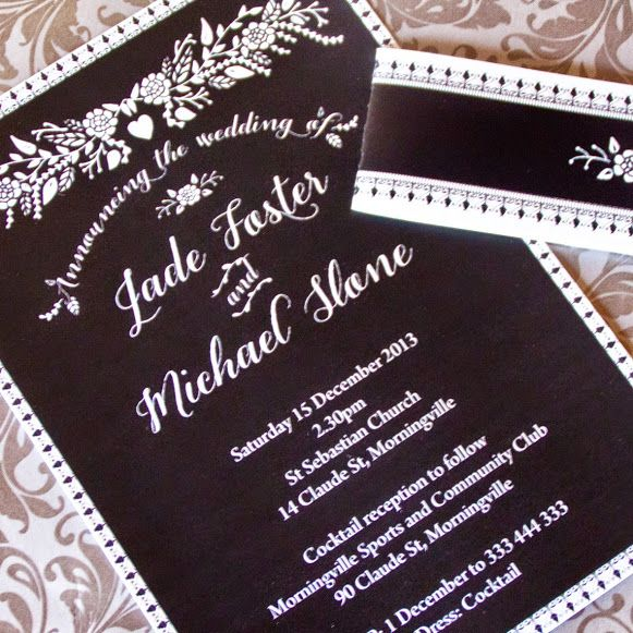 Introducing Chalkboard Wedding Invitations.  A whimsical, eclectic invite that is spot on trend with chalkboard details paired with beautiful florals.  Available from our store here: http://www.iwillinvitations.com.au/Chalkboard-Wedding-Invitations-Collection-c158.htm #weddinginvitations #weddinginvitation #weddingcard #chalkboardinvitations #chalkboardinvitation #chalkboardweddinginvitations