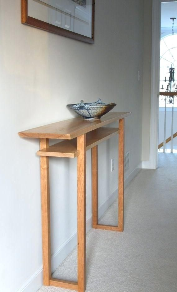 Slim Sofa Table Modern Wood Furniture Minimalist Wood Furniture