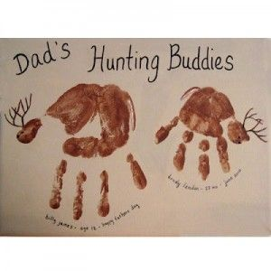 Father's Day craft for kids.  Perfect for hunting family!!