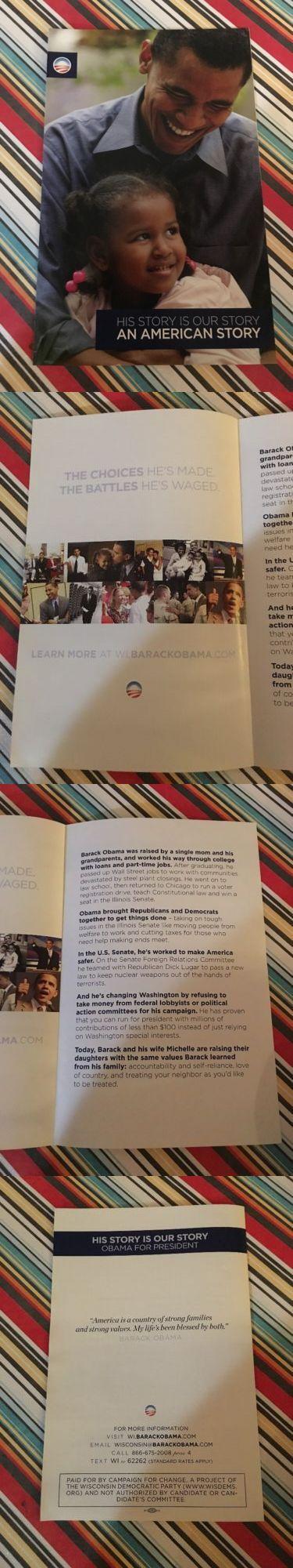 Barack Obama: Barack Obama 2008 Campaign For Change We Can Believe In Pamphlet Brochure -> BUY IT NOW ONLY: $4.5 on eBay!