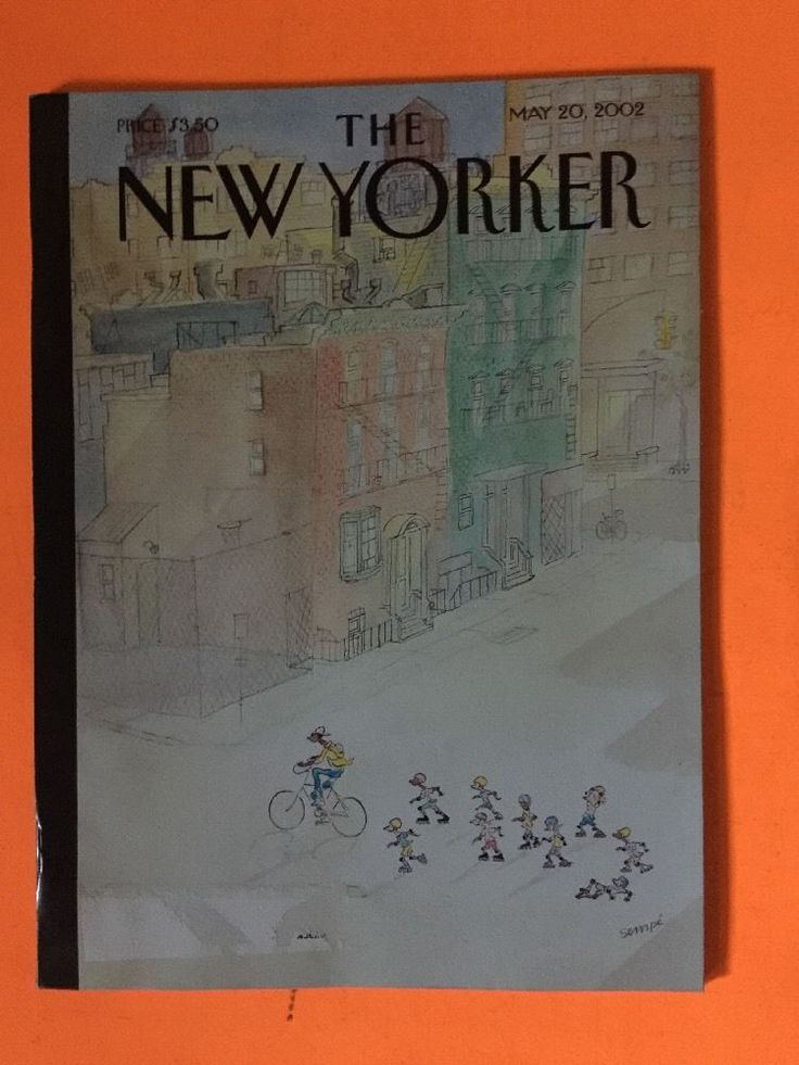 MAY 20 2002 -  THE NEW YORKER magazine - BICYCLE - ROLLER SKATING FREE SHIPPING  | eBay