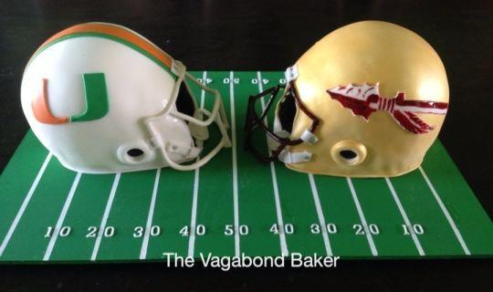 Opposing Football fans cake - FSU vs UM