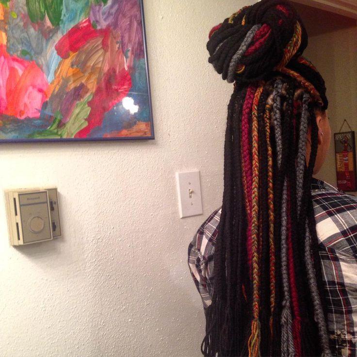 """yarn braids. #moroccanchocolate"""