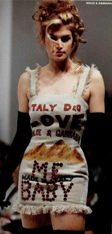 Cindy Crawford for Dolce & Gabbana 1992