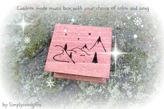 music box  Welcome to Simplycoolgifts!  THIS IS A CUSTOM MADE WIND UP MUSIC BOX! IT HAS THE WIND UP KEY ON THE…