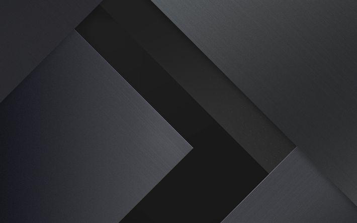 Download imagens as linhas cinzas, geometria, tiras, o material escuro, arte, pirulito, android