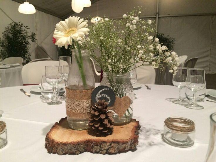M s de 1000 ideas sobre centros de mesa rurales en for Manualidades para casa rustica