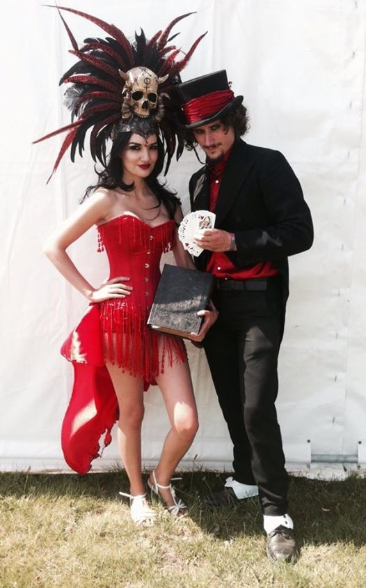 Evil Magician and Evil showgirl assistant, The devil and ...