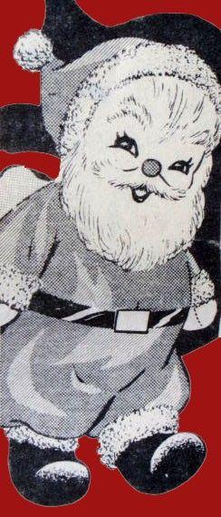 Santa Sock Doll Vintage Sewing Pattern