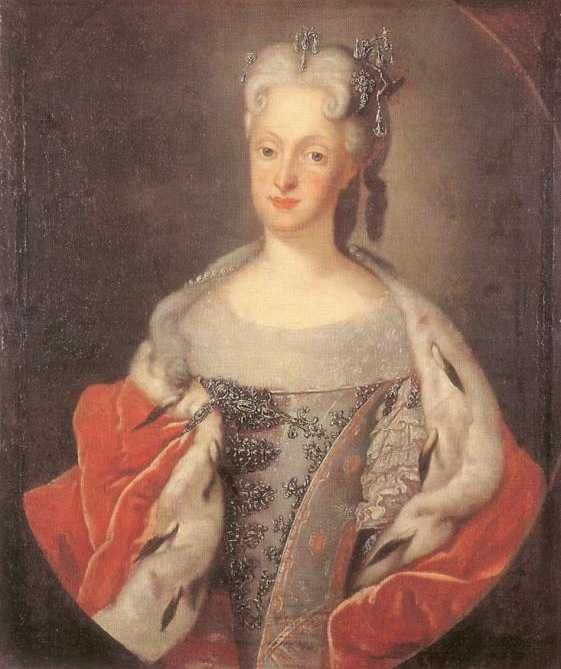 This is VERY transitional from the look of the Restoration to the Georgian. 1719 Marie-Josephe d'Autriche by Louis de Silvestre