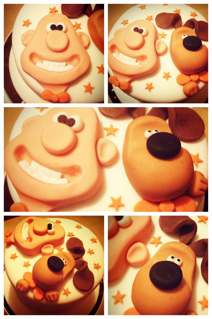 Wallace and Gromit birthday cake for Braden, I think I could pull this off!