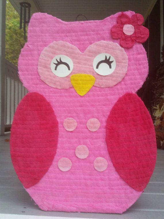 Cute Owl Pinata owl birthday party owl party favor by LaAranita