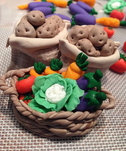 Vegetables cake toppers