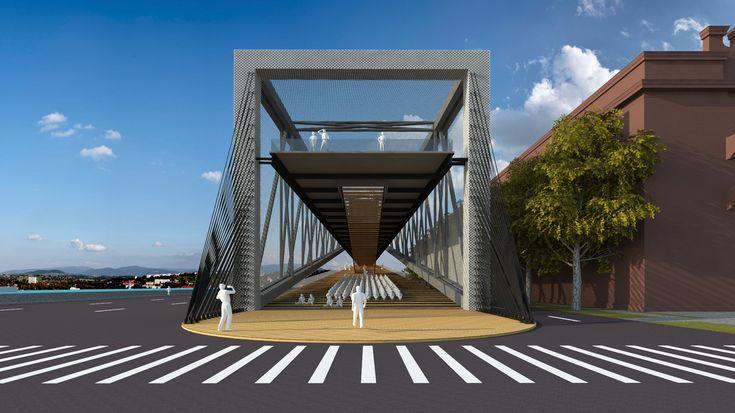 Baltic Way Memorial, designed by Selim Senin, architect