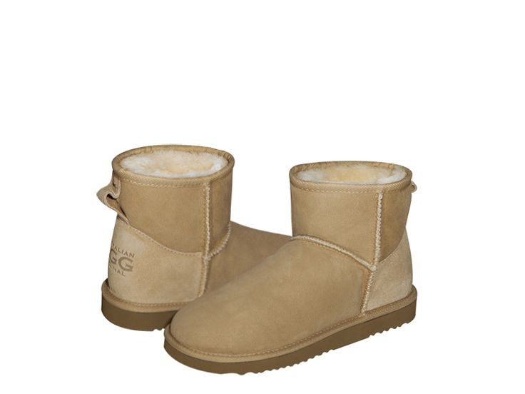 """AUSTRALIAN UGG ORIGINAL"" Classic Mini, sand ugg boots made in Australia. 