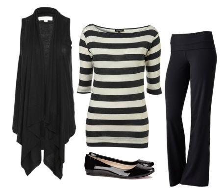 Style black dress yoga