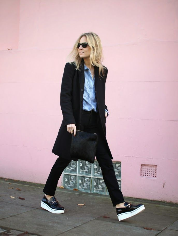Lucy & her Stella McCartney platforms in London. #FashionMeNow