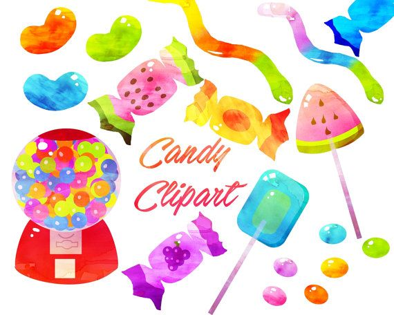 Candy Clipart 80% Off Sale Candy clip art Sweets by GlettirArt