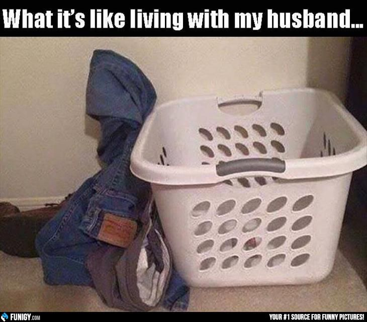 What it's like living with my husband... (Funny Relationship Pictures) - #husband #jeans