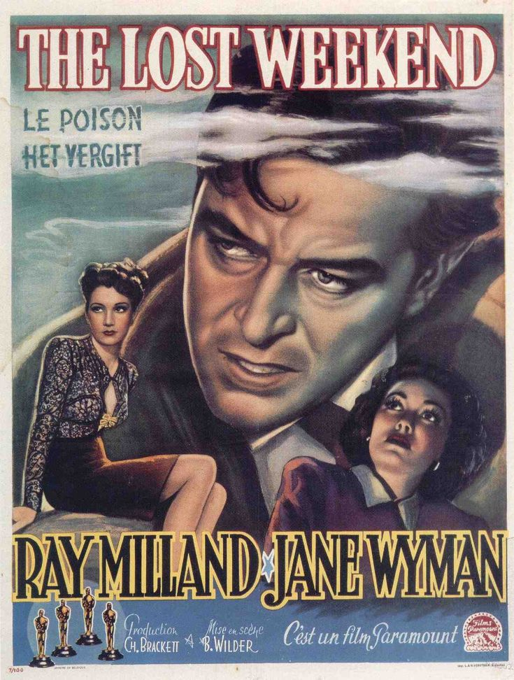 64 best oscar winning movies images on pinterest movie posters the lost weekend ray milland jane wyman directed by billy wilder french movie poster paramount fandeluxe Image collections