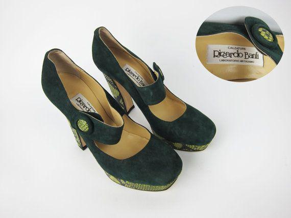 RICCARDO BANFI Italian Designer Hand Made Shoes by GaletaVintage
