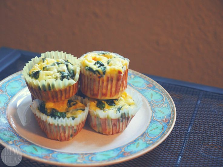 Mini Crustless Spinach Quiches