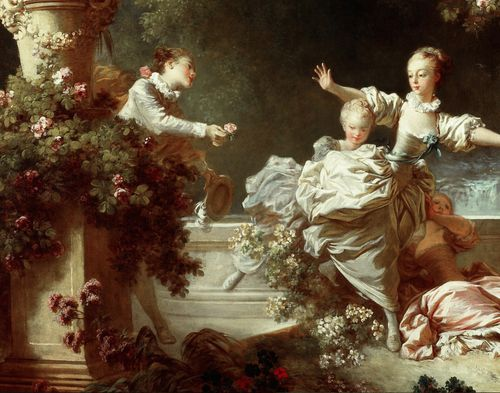 Jean-Honoré Fragonard, The Progress of Love : The Pursuit (detail)  1771-1772