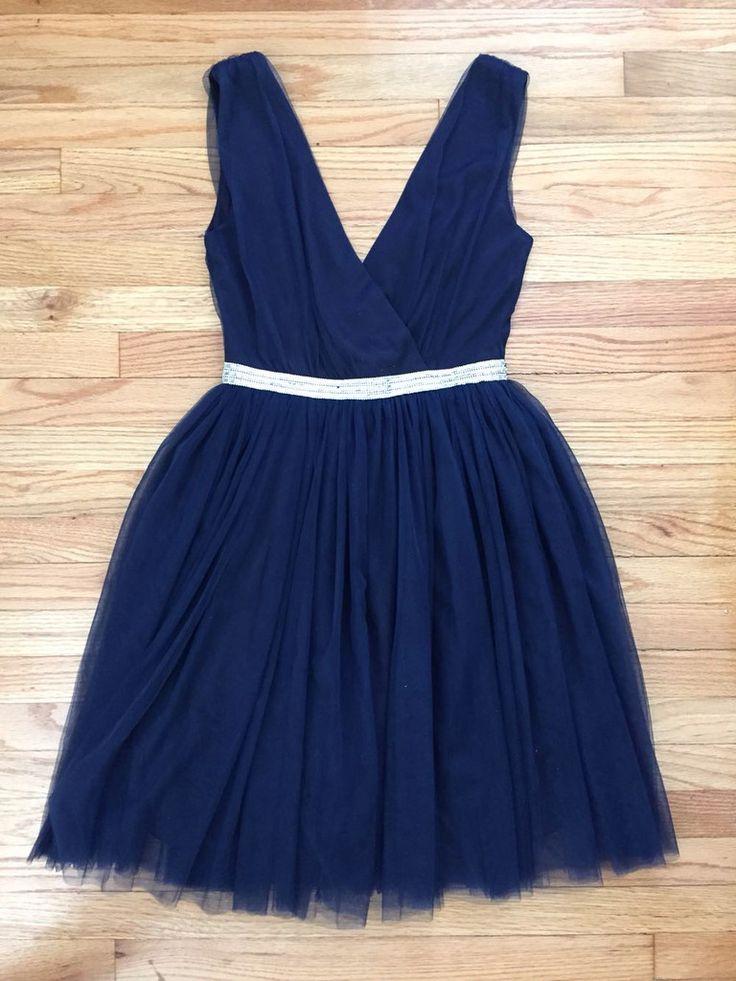 Navy Needlepoint Party Dress