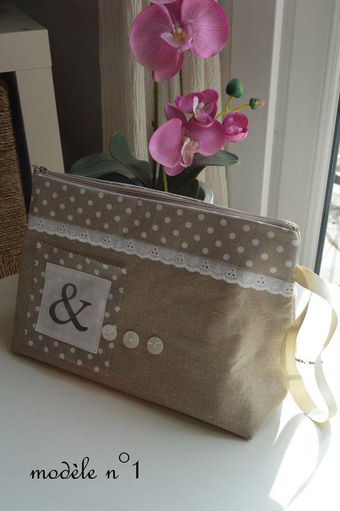 zipper pouch - ribbon handle