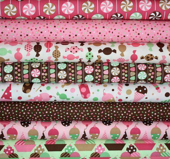 love. Dessert Party fabric bundle by Ann Kelle for Robert Kaufman - Vanilla Fat Quarter Bundle