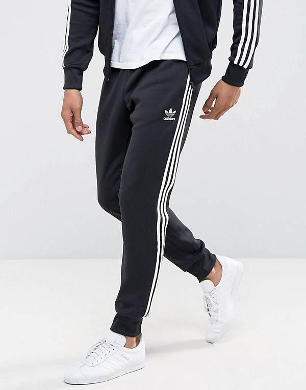 7b23909e0 adidas Originals Superstar Cuffed Track Pants In Black AJ6960 ...