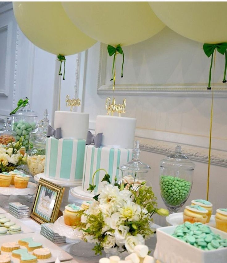 Christening dessert table - use Tablevogue as the foundation for this lovely dessert table.