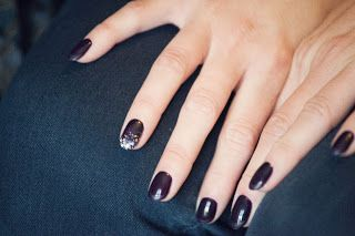 purple sparkle Nail Art. From Tips Nail Bar in Toronto