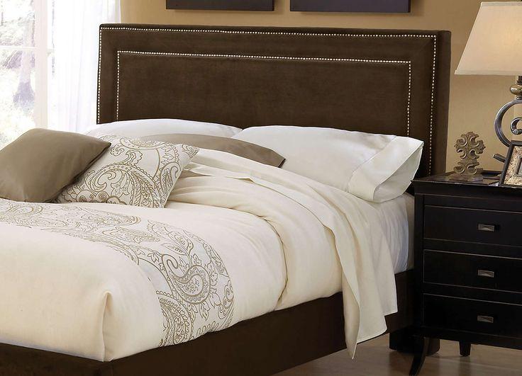 Amber Upholstered Headboard (Chocolate)   The Amber Bed Is Fashionable And  Comfortable. An · StoffkopfteileGepolsterte KopfteileKönigin ...