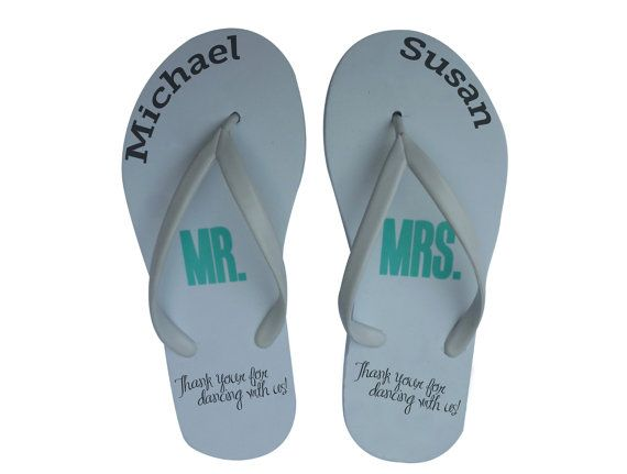 50 pairs  Personalized Flip-flops for your by PersonalizedSlippers